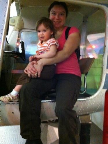 Chloe & I in the cockpit