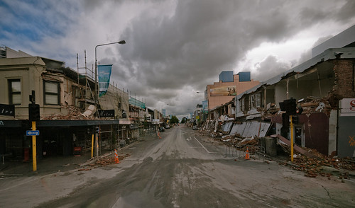 Colombo Street - devastated