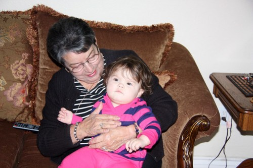 Annabel with her Great-Aunt Ruthie