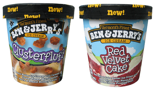 Ben & Jerry's Clusterfluff and Ben & Jerry's Red Velvet Cake