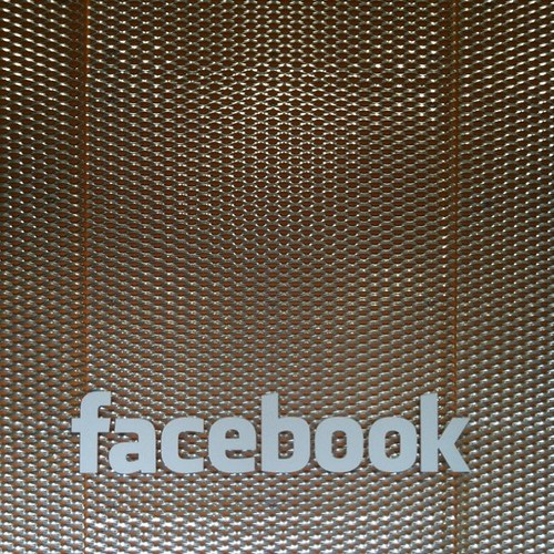 Sign in lobby of Facebook datacenter.