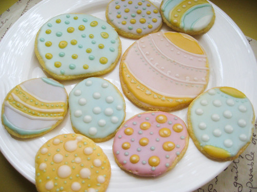 Easter egg cookies