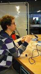 Håkon at the soldering workshop