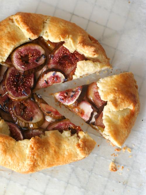 honeyed ricotta, fig & lavender galette
