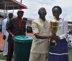 """Governor Adams Oshiomhole presents 1st Prize trophy to Aimianmian Eunice Eghowhanwen • <a style=""""font-size:0.8em;"""" href=""""http://www.flickr.com/photos/139025336@N06/29498332954/"""" target=""""_blank"""">View on Flickr</a>"""