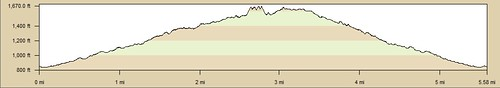 Palm Canyon Elevation Profile 2011