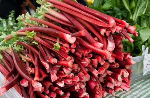 Opening Day of Trout Lake Farmers Market - rhubarb