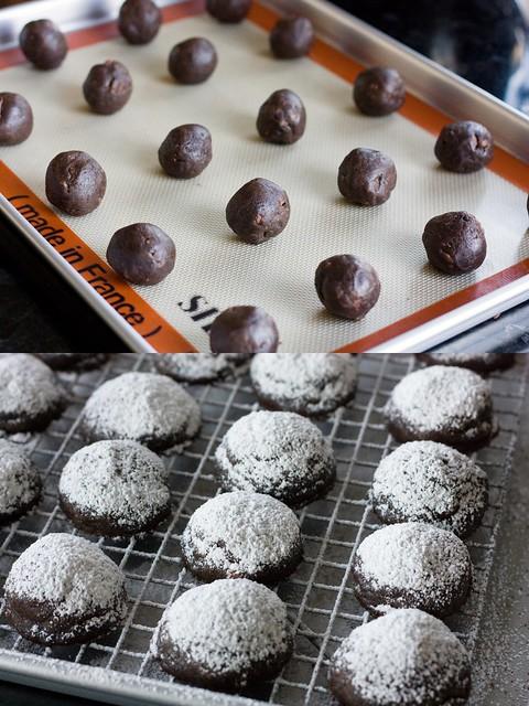 Chocolate Crunch Snowball Cookie Transformation...