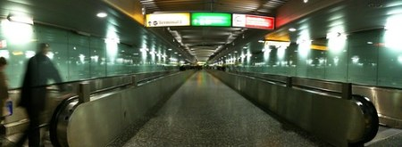 Tunnel from the Underground station to Terminal 1