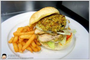[西餐]漢堡類 泰式燒雞漢堡