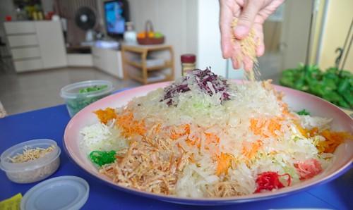 Freshly made yu sheng