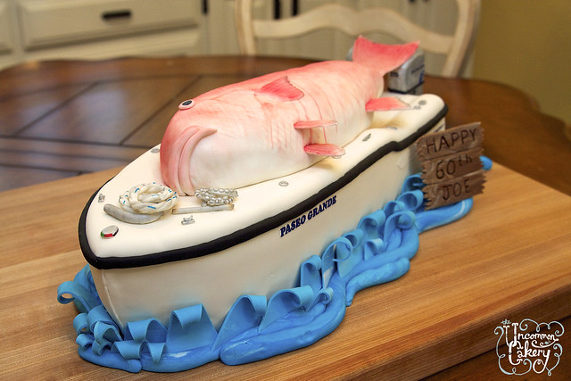 Boat & Red Snapper Birthday Cake