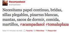 (2) Twitter / @reinohueco/acampadas