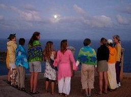 Moon Circle Moon Rise at Antigua by Denise Barack