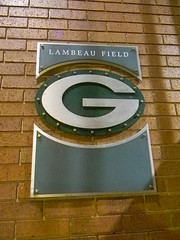 Green Bay logo on brick