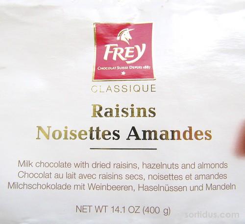 Frey Classique Raisins Noisettes Amandes