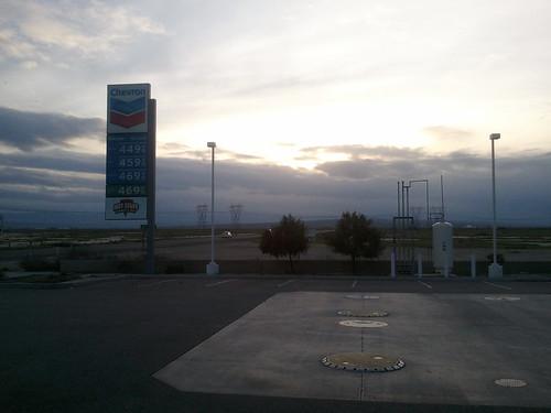 Chevron off I-5 near Bakersfield