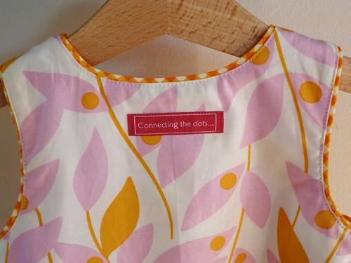 Tropical blend sleeveless dress - detail