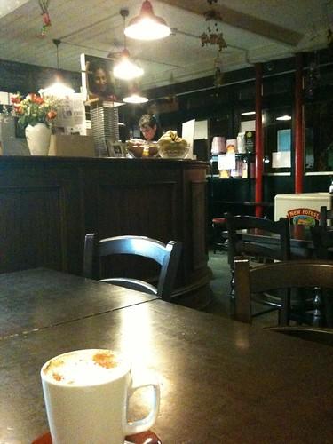 Latte at Clowns of Cambridge