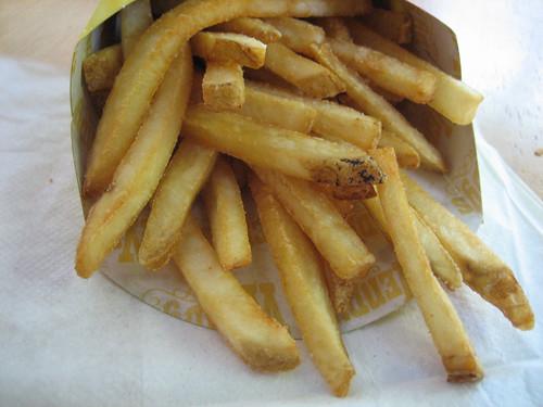 Natural Cut Fries with Sea Salt Close