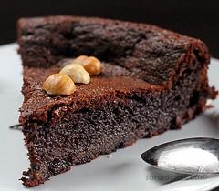 Flourless Nutella Chocolate Cake with Hazelnut halves for World Nutella Day 2011