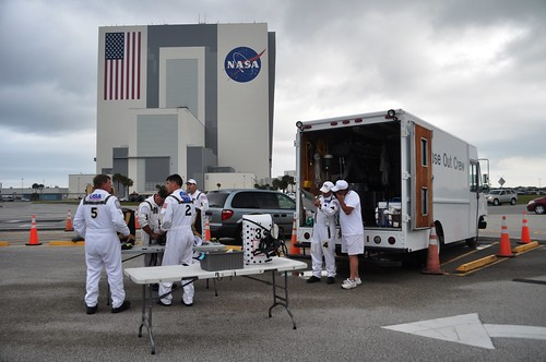 Close Out Crew,  NASA Tweetup Photo, Kennedy Space Center, April 29, 2011
