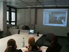 """Skype-Zuschalte im Seminar """"Lernen im Mitmachnetz"""""""
