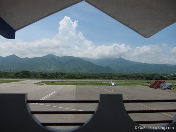 View from the airport in Santa Marta.
