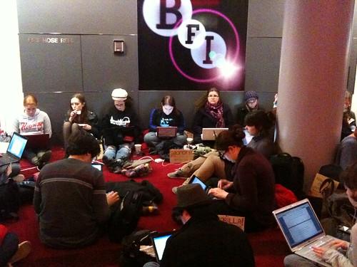 NaNoWriMo Guerrilla Writing at the BFI IMAX, London