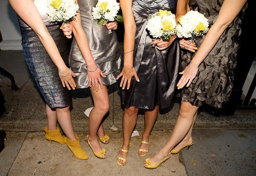 Yellow Heels & Nails