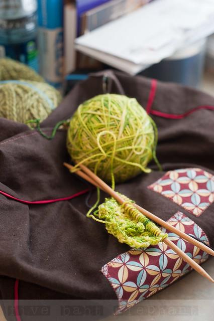 WIP|| Spring Green Springtime Bandit Shawl