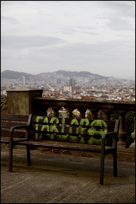 Bench - Montjuic, Barcelona 2011