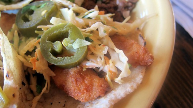 fried tilapia taco at la carreta