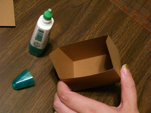 Paper Gingerbread House, Step 3