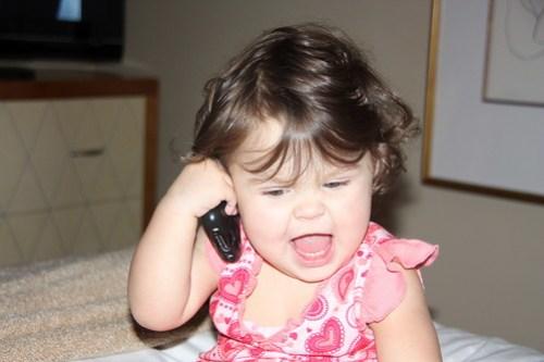 chattin' on the phone