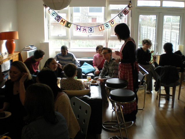 Battersea pop-up cafe in my flat with live music and waitresses