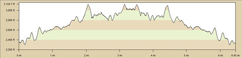 Road to Nowhere Elevation Profile