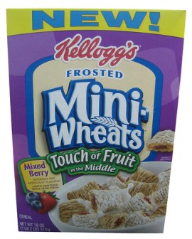 Frosted Mini Wheats Touch of Fruit in the Middle