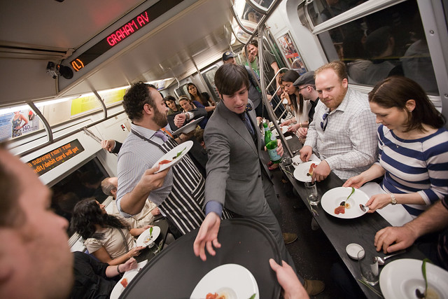 Oh, just a 6-Course meal served on the L Train. What did YOU do this weekend?