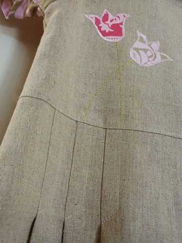 Tulip dress (Sunny sailor dress) - pleats and appliqué