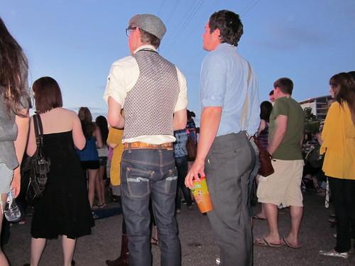 Cutesy boys wearing suspenders