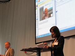 Demo der Office-365-Highlights - hier ein kurzer Videochat mit Lync.