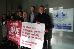 Love Makes A Way sit-in for asylum seekers, at office of Malcolm Turnbull MP