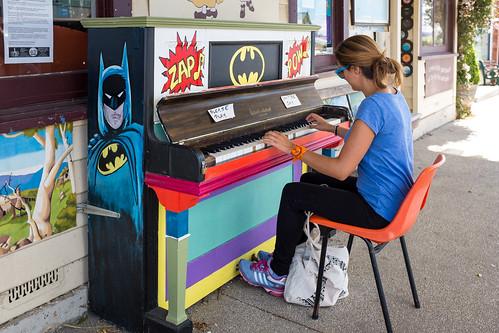 Colourful piano at Sheffield