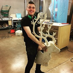 @thewonkychair working hard on #Christmas #decorations our laser workshops also work great for the #cnc!