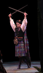 Luke Hawkins (Harry Beaton) in Brigadoon, produced by Music Circus at the Wells Fargo Pavilion August 5-10, 2014. Photos by Charr Crail.