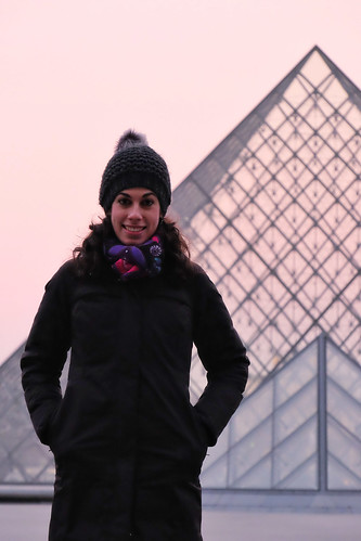 Pilar and the Louvre pyramid