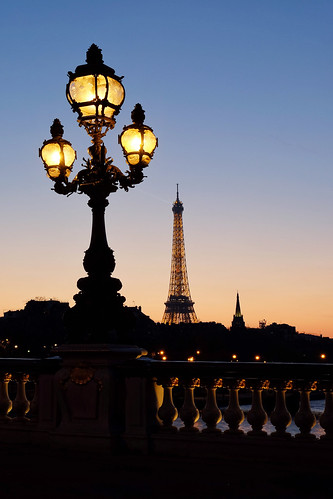 Sunset at Alexander III Bridge