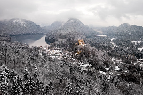 Hochenschwangau village in the snow