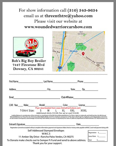 """DOWNEY CA USA - """"8th Annual Wounded Warrior Car Show"""" Saturday, August 15 - 9AM - 3PM - Open to all pre-1974 show cars trucks and special interest vehicles - credit: www.SoCalCarCulture.com • <a style=""""font-size:0.8em;"""" href=""""http://www.flickr.com/photos/134158884@N03/19932163754/"""" target=""""_blank"""">View on Flickr</a>"""
